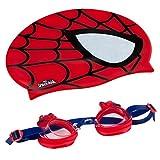 Eolo Mütze und Schwimmbrille für Kinder (COLORBABY) Spiderman