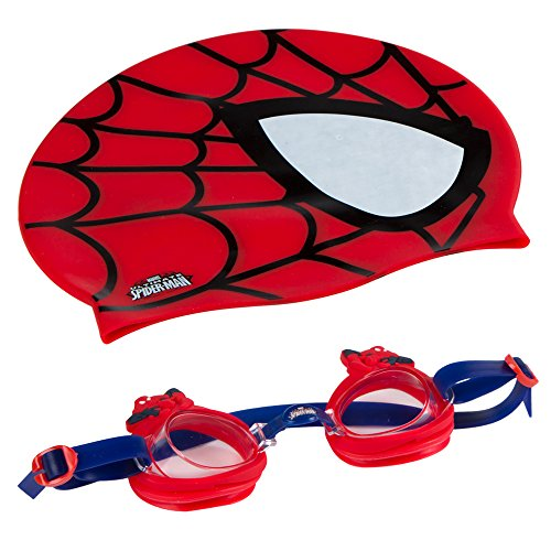 Eolo - SPIDERMAN Gorro & gafas natación infantil