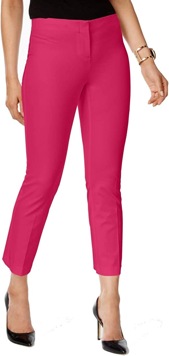 Alfani Womens Pink Pocketed Skinny Wear to Work Pants Size 8