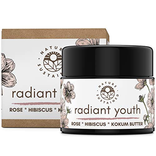 Radiant Youth Face Organic Moisturizer by Nature Sustained - Biodynamic Facial Treatment With Organic Jojoba, Olive Oil, Sea Buckthorn, Lavender - Calming Face Balm For Dry Skin, Redness & Moisture