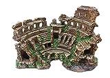 Ybzx Ruinas de templos Romanos, decoración de acuarios, Columna Romana, Modelo de Arquitectura Romana, decoración, Escultura, Estatua, artesanía de Resina