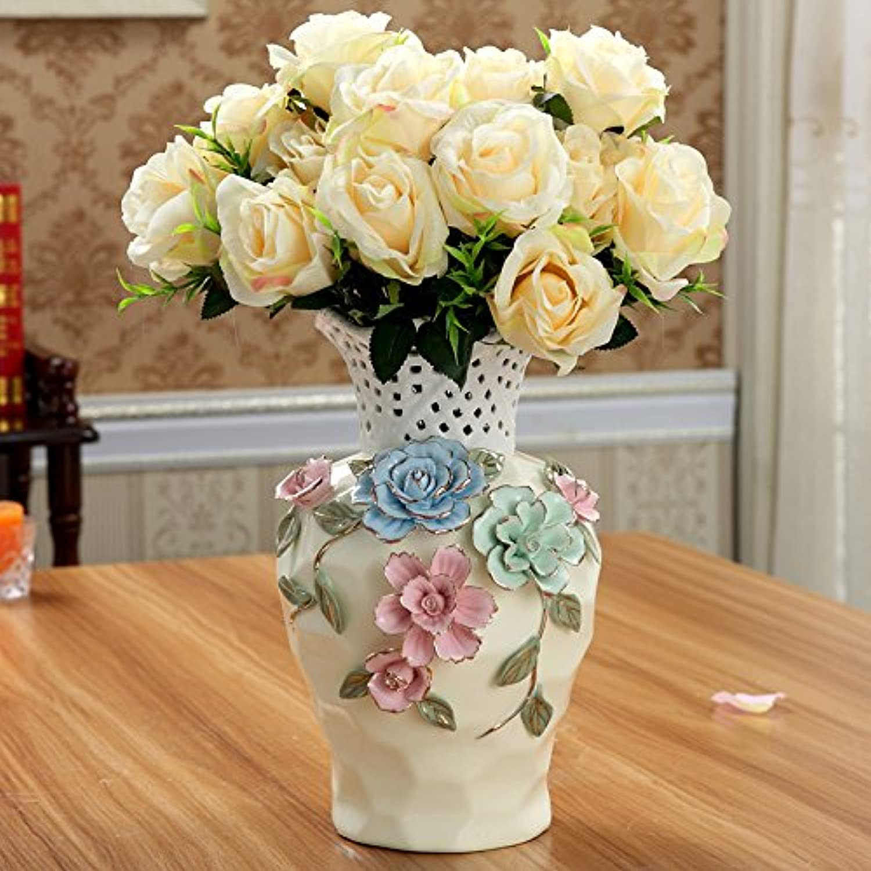 GWH garden Vase en céramique décoration de Bureau Meuble TV Salon Vase décoration Fleur Simulation,A1