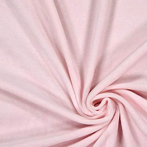Nicki Stoff Uni – rosé — Meterware ab 0,5m — zum Nähen von Kissen/Tagesdecken, Hauskleidung & Sport/Funktion