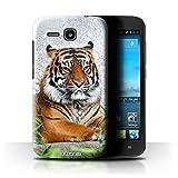 Hülle Für Huawei Ascend Y600 Wilde Tiere Tiger Design