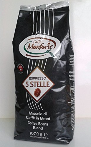 "Caffè Monforte Espresso ""5 Stelle"" ganze Bohnen, 1er Pack (1 x 1 kg)"