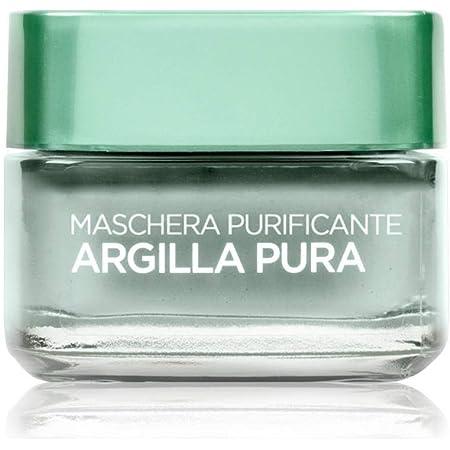 L'Oréal Paris Detergenza Maschera per il Viso Argilla Pura Maschera Viso Purificante, 50 ml