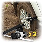 EZUNSTUCK Car Tire Anti-Skid Tool - RWD/AWD/4x4 SUV, Trucks, Pickup – EZ-D02LX Get Unstuck Solution for Mud, Sand, Snow, ice, Off-Road - Better Than Traction Mat, Recovery Tow Strap(Large/Set of 2)