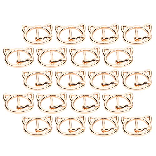 SALUTUYA Cat Head Shape Wear ‑ resistant Buckle Clasp Pin for Garment Accessory 0.6 x 0.8in