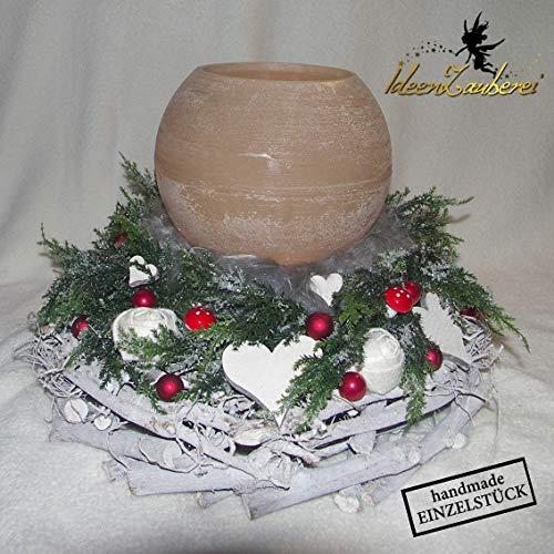 Weihnachtsdeko für den Tisch, Weihnachtskranz