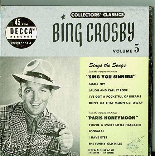Collector's Classics Vol 5 - Original Box Set - 4 vinyl 45s, 8 Songs w/Small Fry / Laugh and Call It Love / | I've Got a Pocketful of Dreams / Don't Let That Moon Get Away plus 4 more - Bing Crosby (Decca Records 1950) Near-Mint (7 out of 10)