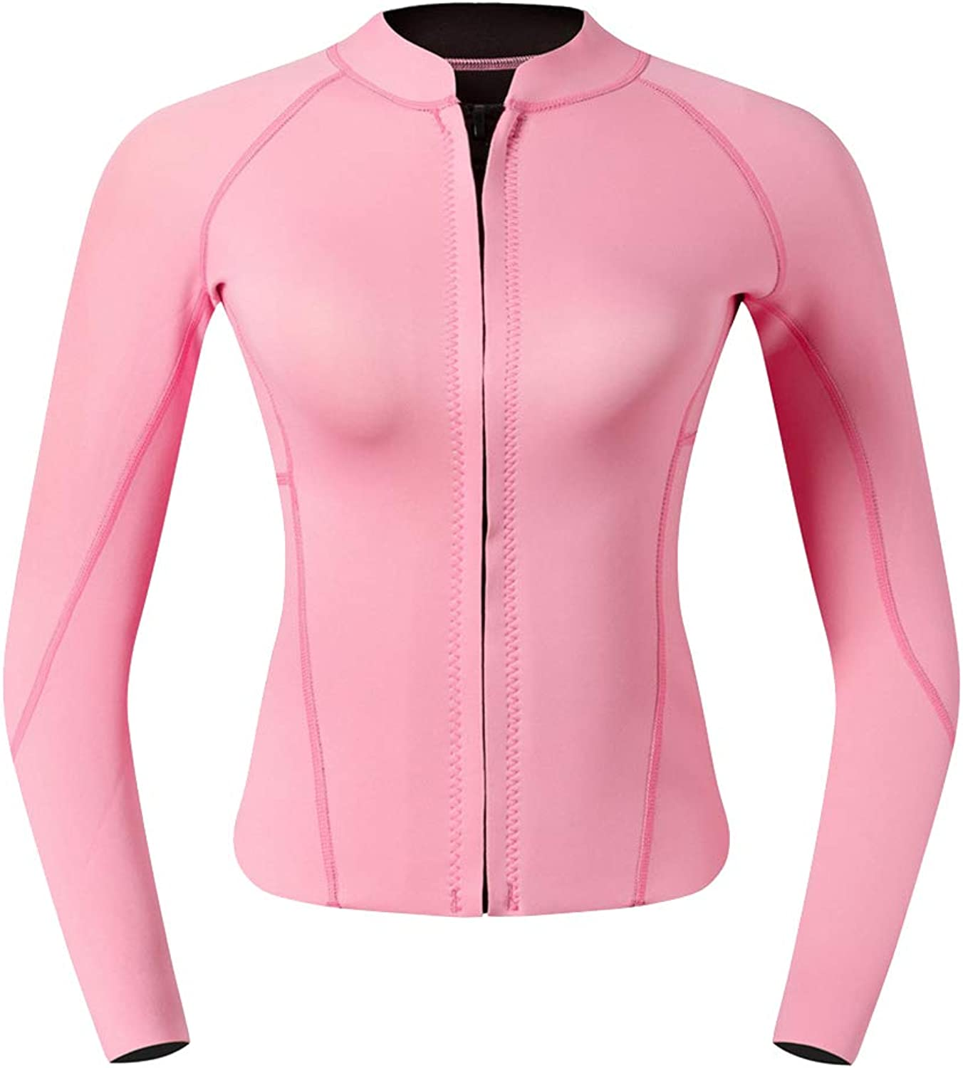Baoblaze 2mm Womens Neoprene Wetsuit Top Jackets Perfect for Snorkeling, Scuba Diving, Surfing, Swimming – Pink