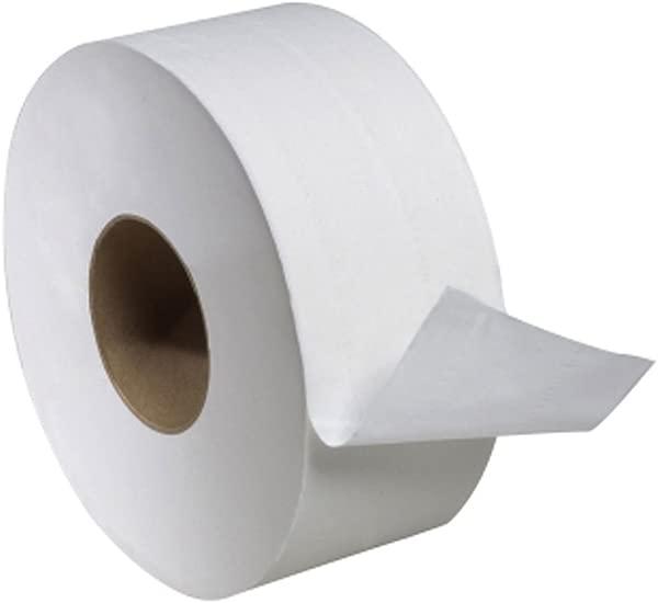 Tork TJ0912A Universal Jumbo Single Ply Toilet Tissue Roll White
