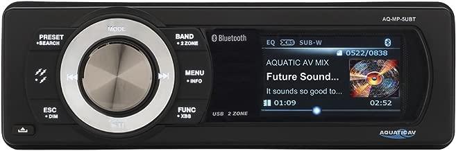 Aquatic Av AQ-MP-5UBT Bluetooth and USB Waterproof Marine Stereo with Dock