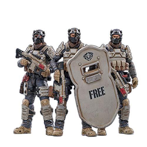 Gedar Actionfigur Set, 1/18 10.5CM Actionfiguren Modell, 3 Stück Actionfigur Soldat Figur Groß