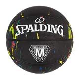 Spalding Marble Series Negro Multicolor Baloncesto al aire libre 29.5 pulgadas