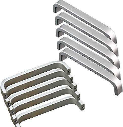 LYTIVAGEN 10 PCS Tiradores de las Puertas del Armario de la Cocina Tirador de Barra Manija Barral de Acero Inoxidable Tirador para Mueble para Cajones Puertas de Gabinete o Cocina