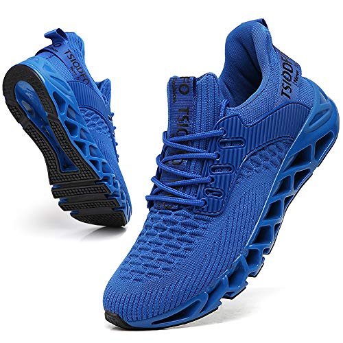 Ezkrwxn Men Blue Sneakres Mesh Breathable Comfort Sport Running Shoes Fashion Casual Tennis Athletic Walking Sneakers Gym Runner Jogging Shoes Size 12
