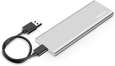 KINGSHARE USB3.0 External Enclosure Case for SATAIII 6Gb/s M.2(NGFF) 2280 SATA SSD -Silver …