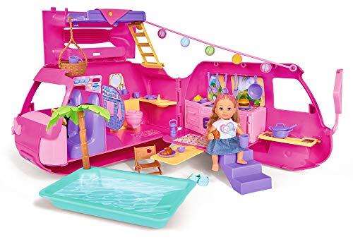 Simba- Evi Love Holiday Camper Veicolo delle Bambole, Multicolore, 105733275