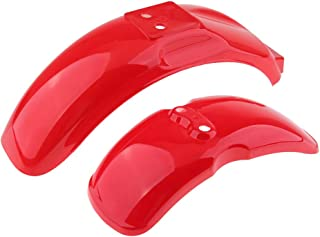 D DOLITY 2pcs Front & Rear Wheel Fender Splash Guard Cover for Honda Monkey Z50 Z50R 50J Bikes with 8inch or 10 inch Wheels (Red)