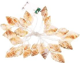 Cordão de luzes LED para conchas, luzes LED de corda de fadas para praia e balada, luzes temáticas para festa de casament...