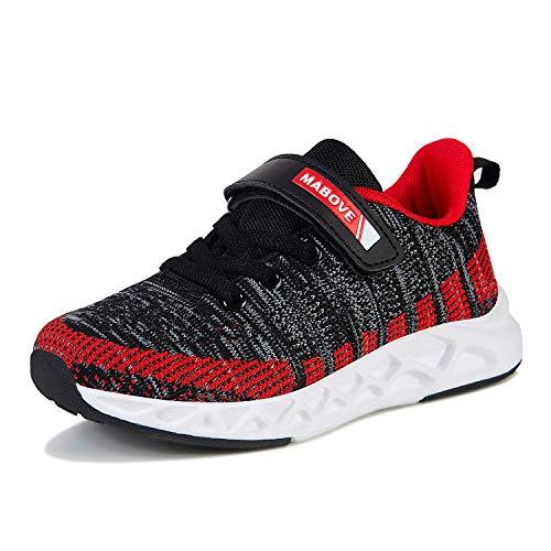 Buty do biegania dla dzieci, dla chłopców i dziewczynek, buty sportowe, oddychające, lekkie buty sportowe z zapięciem na rzepy, buty do fitnessu, buty typu sneakers na siłownię, do użytku wewnątrz, szary - szary Yf622 - 34 EU