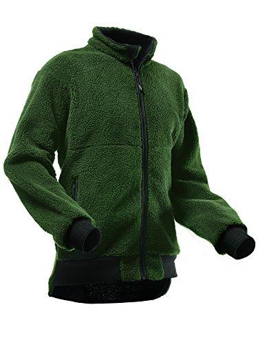Pfanner warme Faserpelz Jacke Midland, Farbe:Oliv, Größe:S