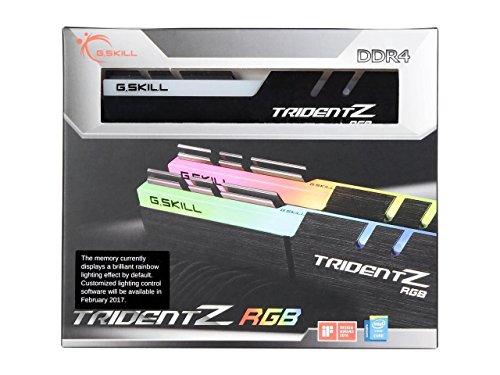 G.Skill 16 GB (2 x 8 GB) TridentZ RGB Series DDR4 PC4-25600 3200 MHz Desktop Memory Model F4-3200C14D-16GTZR