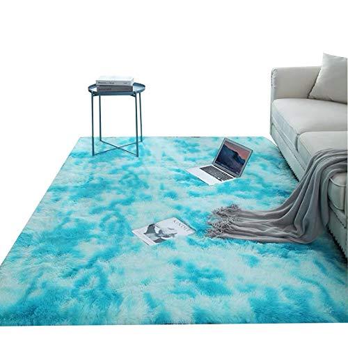 CMZ Bunte gefärbte Teppiche Farbverlauf Teppiche Wohnzimmer Couchtisch Teppiche Net rot Plüsch waschbare Teppiche Full Schlafzimmer Teppich