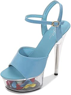 Women's Stiletto PlatformSandals,Summer Buckle PeepToe Sandals,You Can Adjust The Band for The Perfect Fit