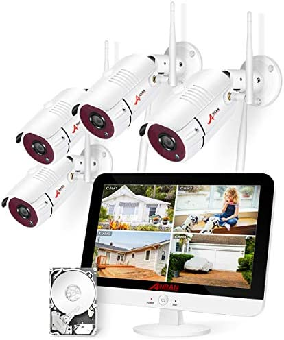 Top 10 Best wireless security camera system with monitor Reviews