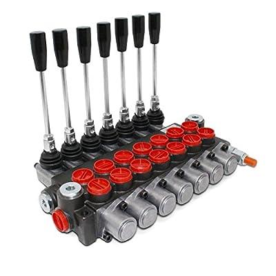 Monoblock Hydraulic Directional Control Valve, 7 Spool, 11 GPM, SAE Ports by Summit Hydraulics