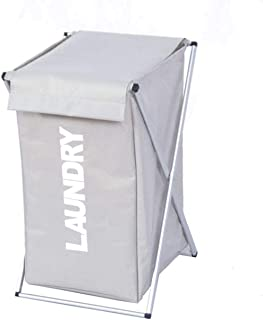 Laundry Basket LF X Panier de rangement pliable avec couvercle de rangement pour vêtements sales, jouets ou jouets (couleu...