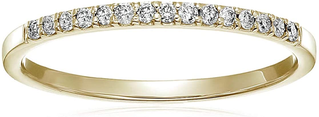 Vir Jewels 1 NEW 8 cttw Petite Diamond Yellow in Go Very popular! Band 10K Wedding