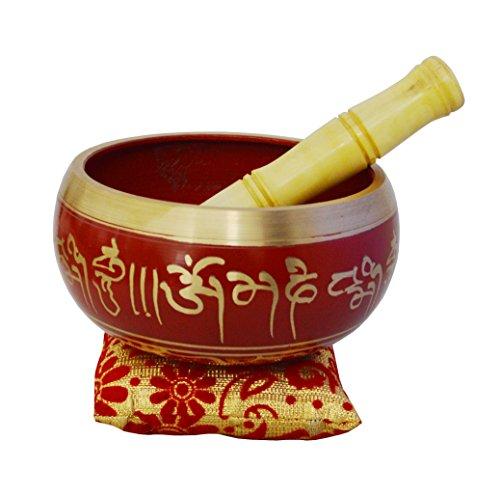 Zap Impex Tibetaanse meditatie zingen kom, klankschalen om Mani metalen schaal/kussen/racket