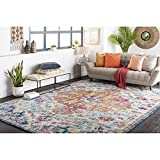 Artistic Weavers Odelia Updated Traditional Rug Orange/Navy 5'3' x 7'3