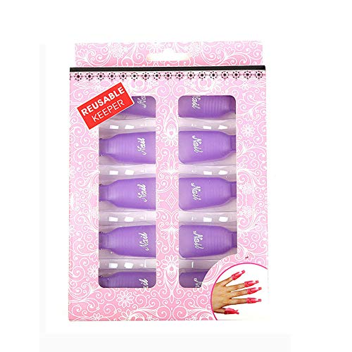 10 stuks nagelkap klemmen, nagel kunst soak off klemmen cap, nagellak remover clips set UV gel polijsten remover wikkelen nageltool