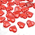 Fangoo Acrylic Heart for Table Scatter Decoration or Vase Filler