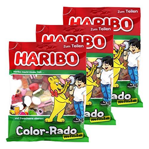 Haribo Mini Color-Rado, Fruchtgummi, 3er Pack, Lakritz, Lakritzmischung, Im Beutel, 175 g