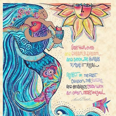 Sea Goddess Panel by Laurel Burch Clothworks Cotton from Bombing free shipping 100% Genuine Free Shipping Qu
