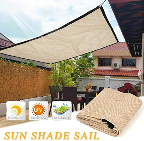 PYXZQW Shade Cloth UV Resistant Sun Shade Outdoor Garden Patio Sunscreen Awning Canopy for Lawn Pool Kailyard Courtyard Backyard,4x4m