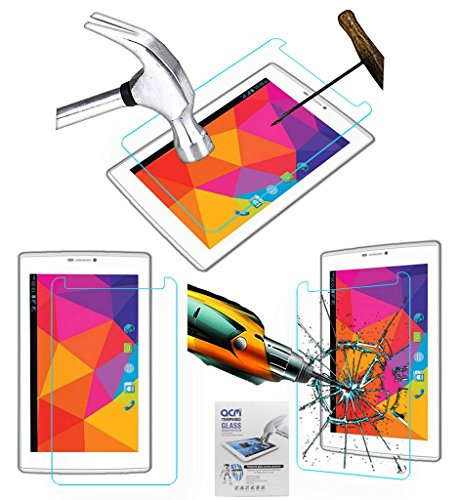 Acm Tempered Glass Screenguard Compatible with Micromax Canvas Tab P480 Tablet Screen Guard Scratch Protector
