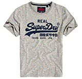 Superdry Vintage Logo AOP Mid Tee Pull sans Manche, Gris (Grey Marl 07q), Small Homme