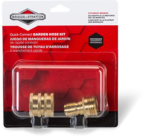 Briggs & Stratton 6190 Garden Hose Quick-Connect Kit with Heavy-Duty Brass Fittings for Pressure Washers