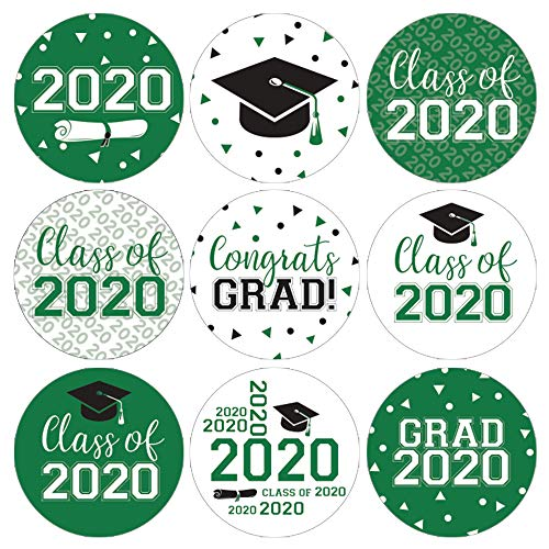 Class of 2020 Graduation Party Favor Labels - 180 Stickers (Green)