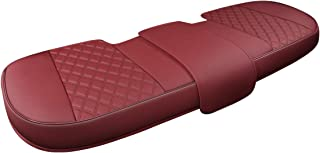 Black Panther Luxury PU Leather Rear Car Seat Cover,Compatible with Most Vehicles, Adjustable Length 49-55'', Diamond Pattern Embroidery (Wine Red)