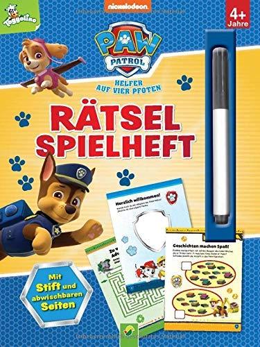Paw Patrol - Rätselspielheft: Mit Stift und abwischbaren Seiten