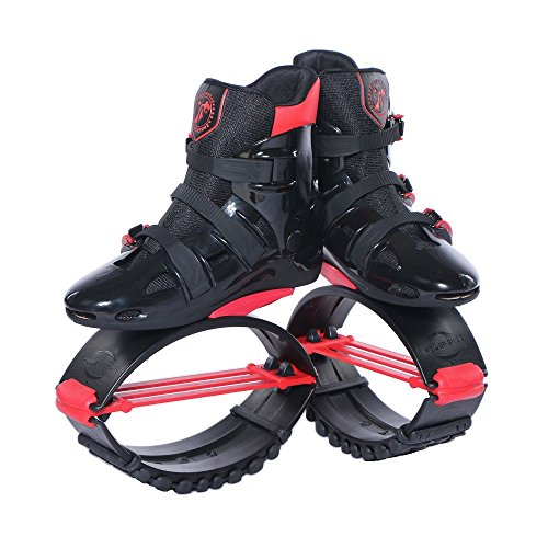 Joyfay Black and Red Unisex Fitness Jump Shoes Bounce Shoes XXL