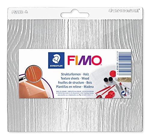 Staedtler 8744 10 Fimo Accessories. Hojas de textura para pastas de modelar. Bolsa con una placa con textura de madera.