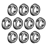 uxcell MF148ZZ Flanged Ball Bearing 8x14x4mm Double Metal Shielded (GCr15) Chrome Steel Bearings 10pcs